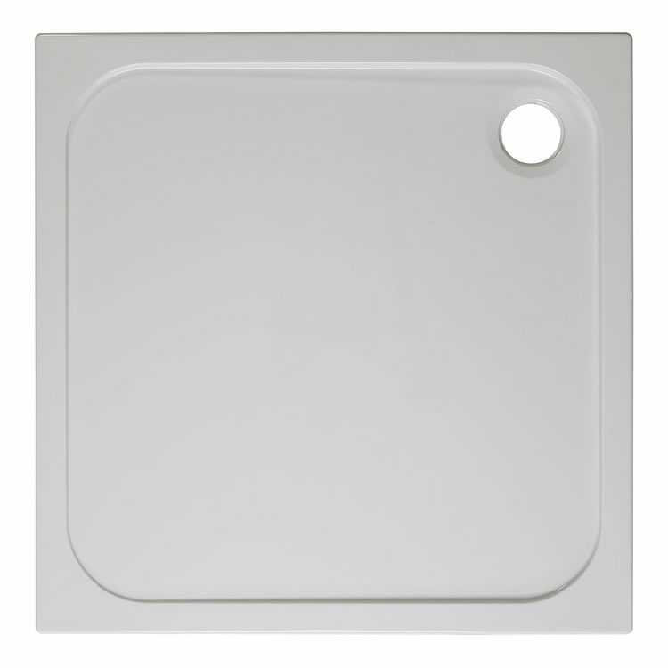 Crosswater Simpsons Square 760mm 45mm Stone Resin Shower Tray