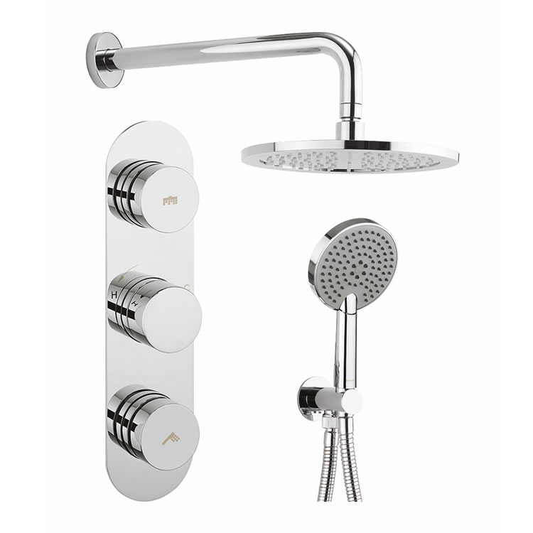 Crosswater Dial Valve 2 Control with Central Trim, Ethos Shower & Head