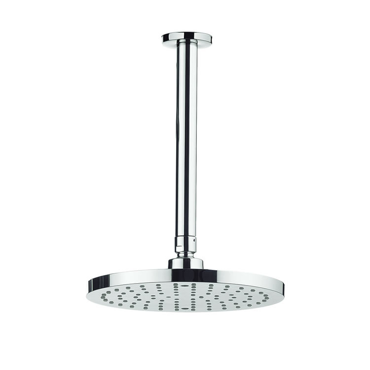 Adora Fusion 200mm Round Fixed Shower Head & Ceiling Arm