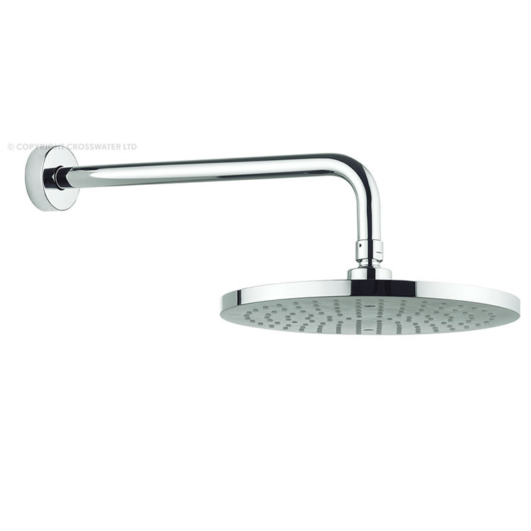 Adora Fusion 250mm Round Fixed Shower Head & Arm