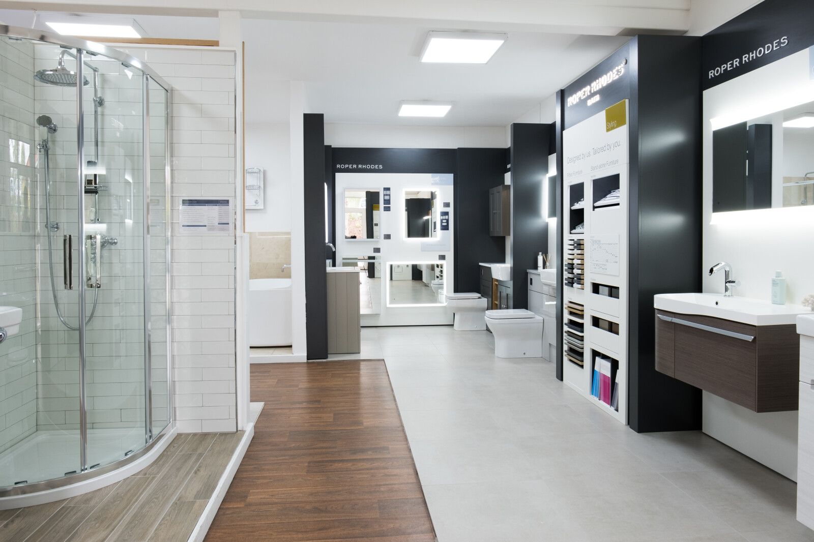 Sanctuary Bathrooms showroom downstairs inside image leeds yorkshire