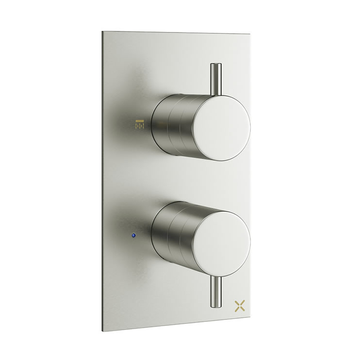 Crosswater Mike Pro Brushed Stainless Steel Thermostatic Shower Valve & Diverter