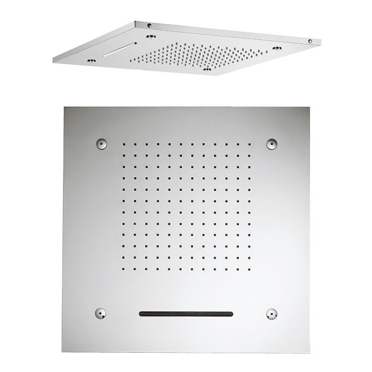 Crosswater 1595mm Square Multifunction Recessed Shower Head