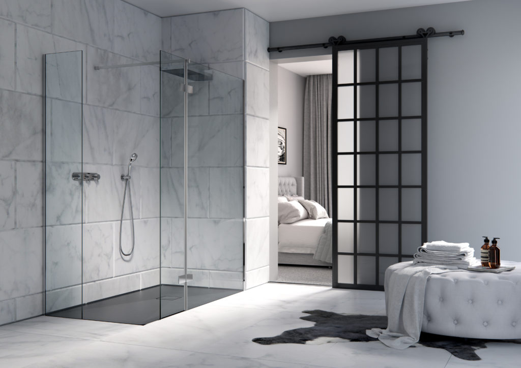 Wet Room Designs - Double-Sided Walk-in Shower Enclosure