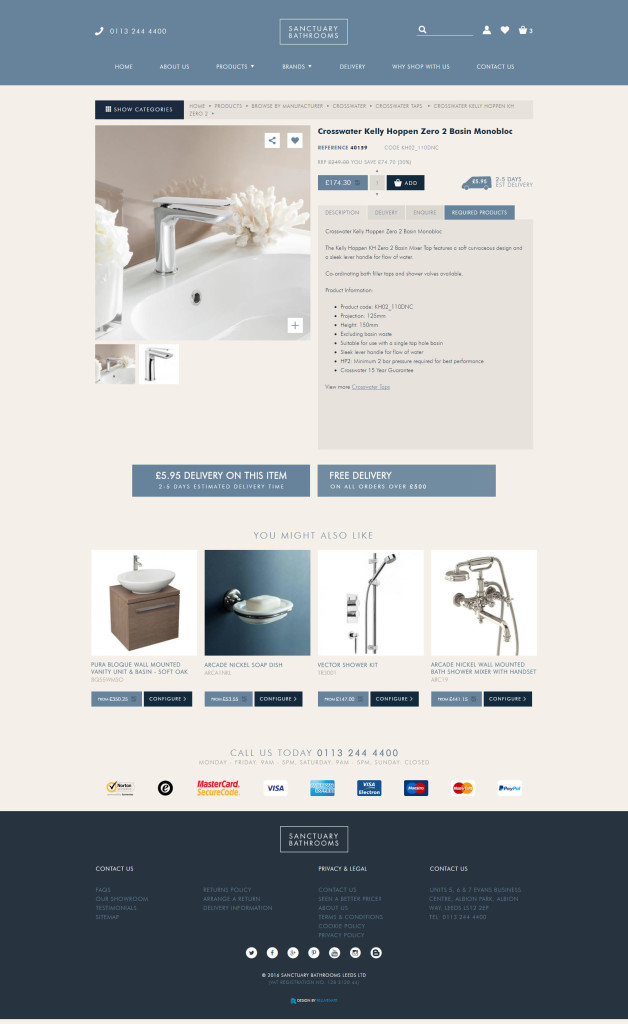 New Website Product Page
