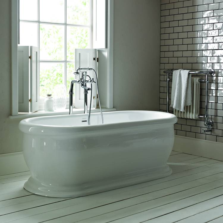 Heritage Derrymore 1745mm Double Ended Roll Top Acrylic Freestanding Bath