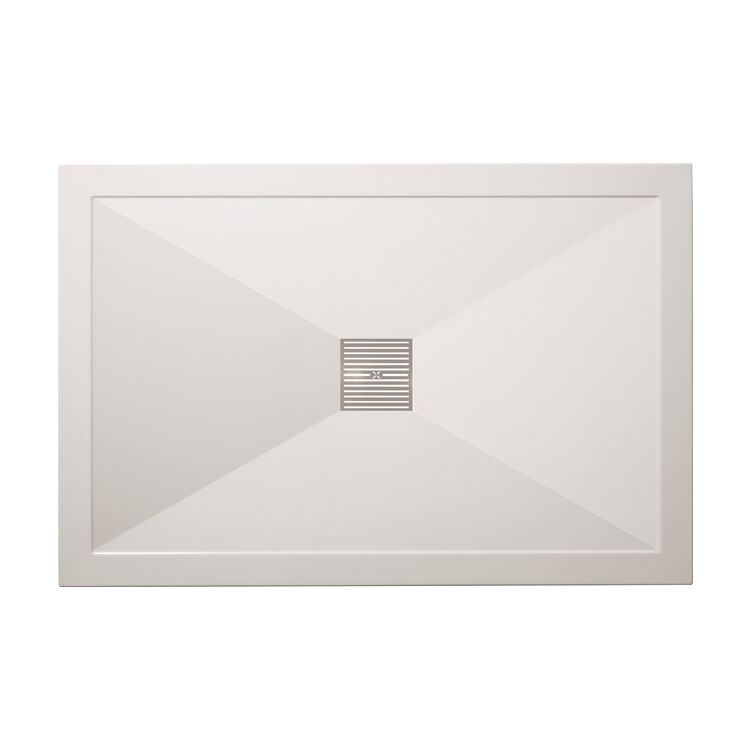Photo of Crosswater Simpsons 1200 x 800mm Rectangular Natural Stone Resin Shower Tray
