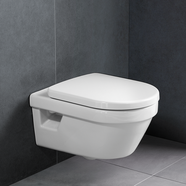 Photo of Villeroy and Boch Architectura Compact Wall Hung WC & Dual Flush Frame Lifestyle Edit