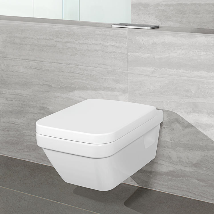 Photo of Villeroy and Boch Architectura Square Wall Hung WC & Dual Flush Frame