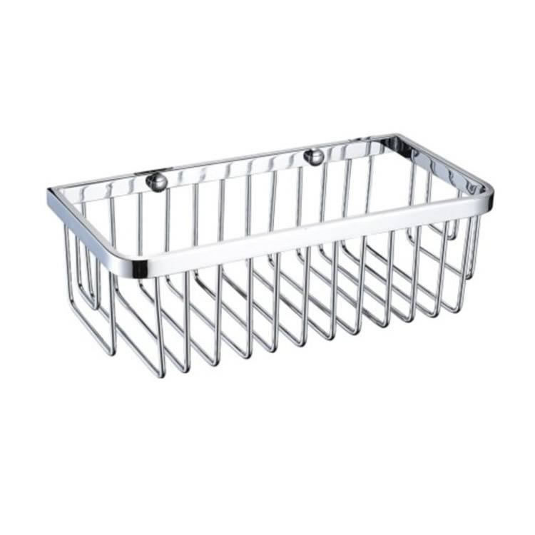 Heritage Chrome Rectangle Wire Basket Image