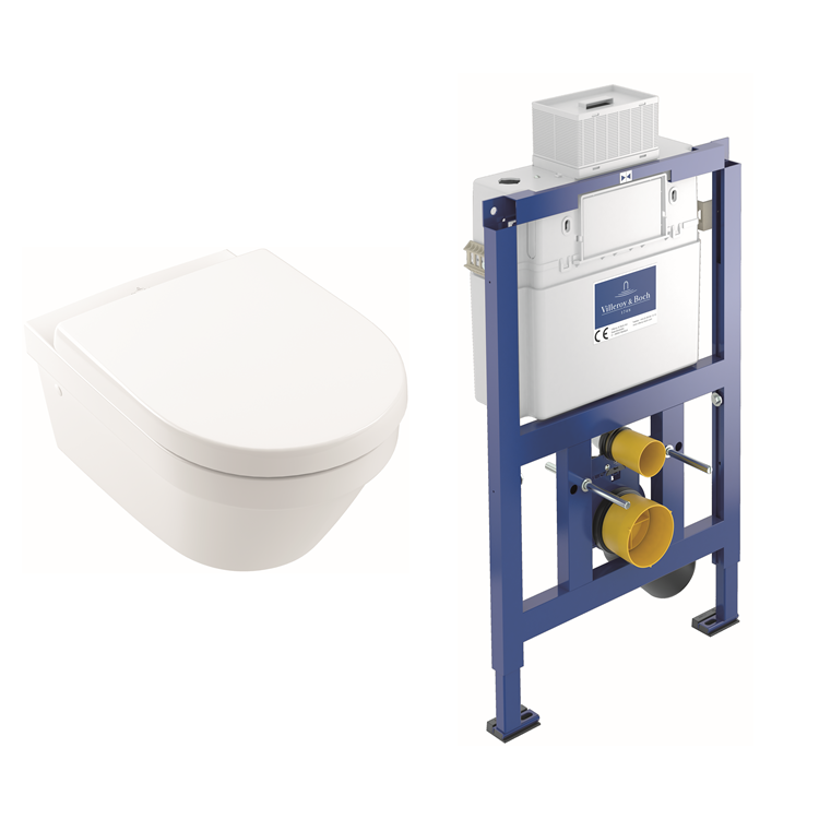 Photo of Villeroy and Boch Architectura Rimless Wall Hung WC & Dual Flush Frame Cutout