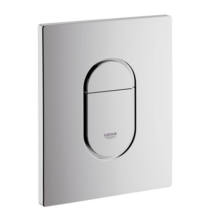 Grohe Arena Cosmo Vertical Chrome Flush Plate