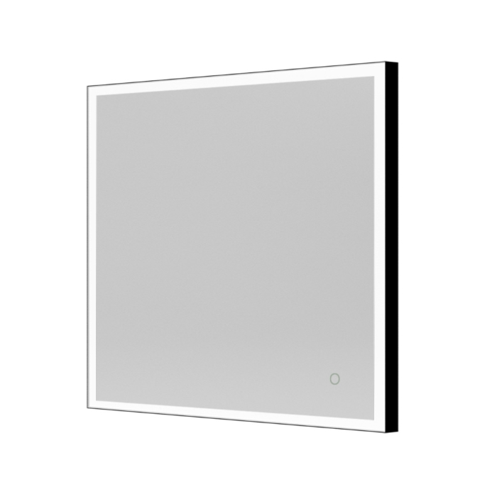 Product image of Bathroom Origins Tate Light Square Mirror with black frame