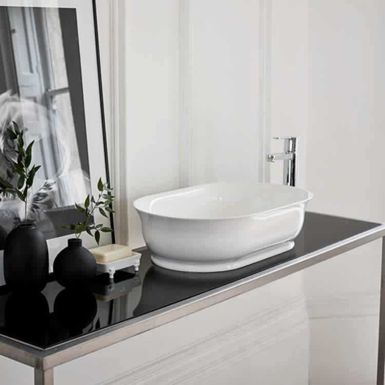 Clearwater Florenza Clear Stone Basin Lifestyle Image 1