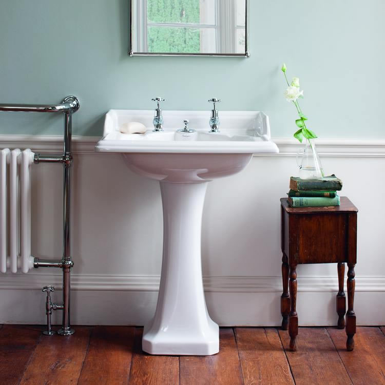 Burlington Classic Basin with Invisible Overflow and Pedestal Lifestyle Image