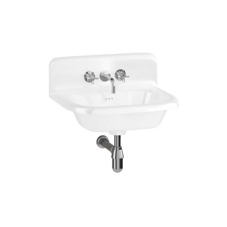 Burlington 550mm Natural Stone Roll Top Basin With Upstand