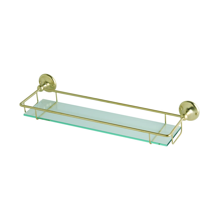 Photo of BC Designs Victrion Brushed Gold Gallery Shelf