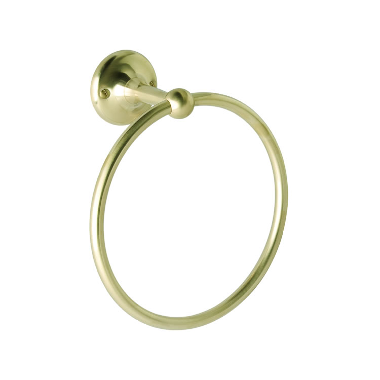 Photo of BC Designs Victrion Brushed Gold Towel Ring
