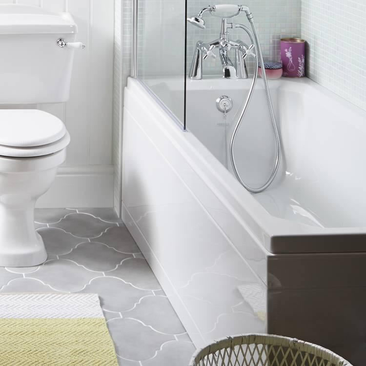 Heritage Rhyland Acrylic 1700mm Single Ended Fitted Bath Lifestyle Image