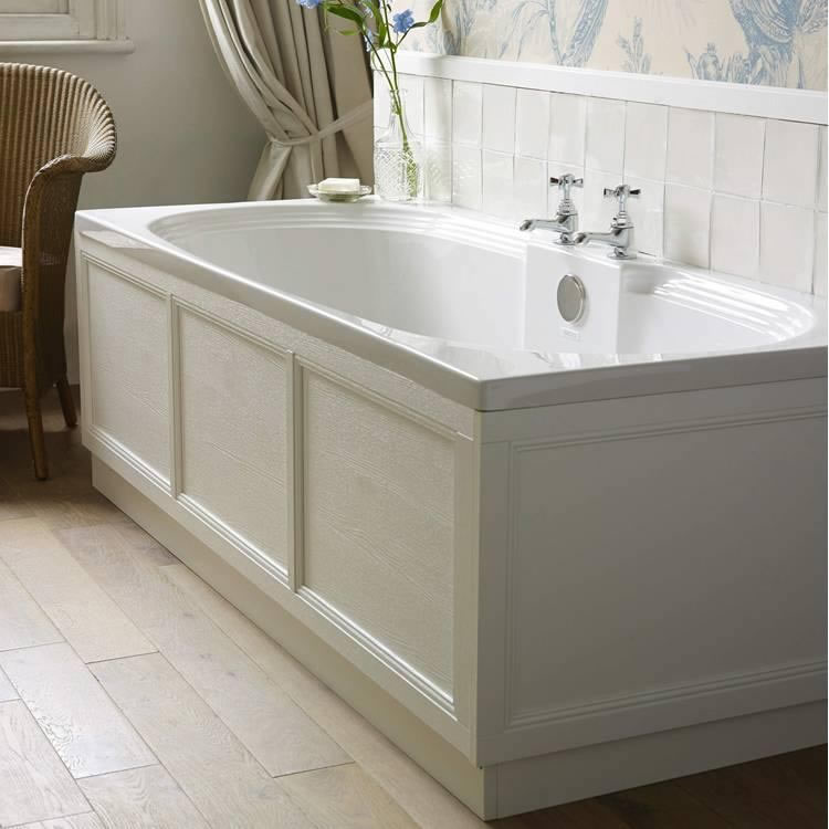 Heritage Dorchester Acrylic 1800mm Double Ended Fitted Bath Image
