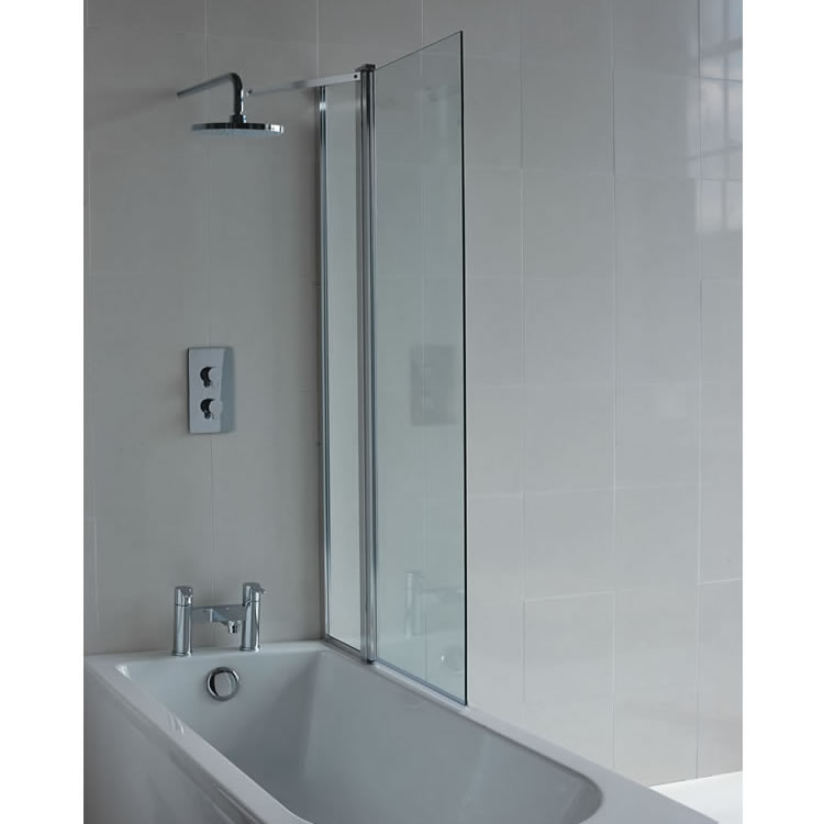 Cleargreen Hinged Bathscreen with Fixed Panel