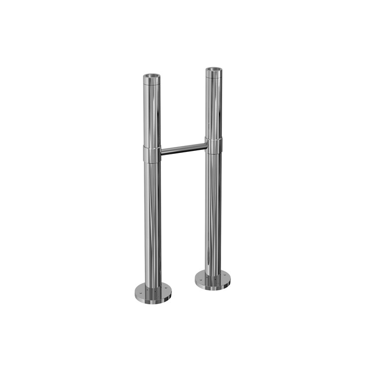 Photo of Burlington Chrome Stand Pipes with Horizontal Support Bar