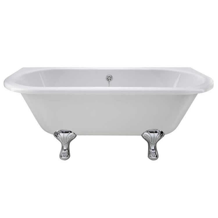 Photo of Bayswater Courtnell 1700mm Back to Wall Freestanding Bath Side View