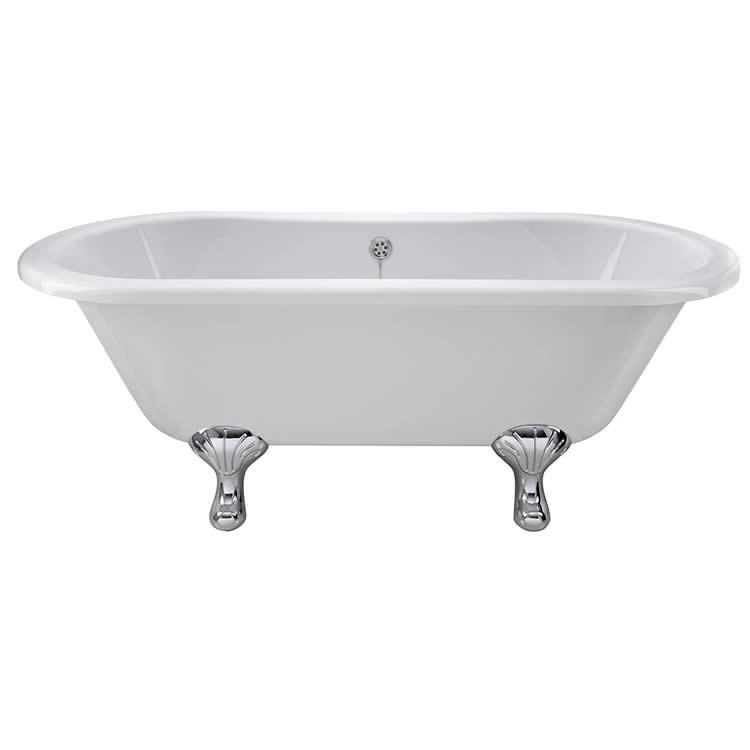 Photo of Bayswater Leinster 1700mm Double Ended Freestanding Bath Side View