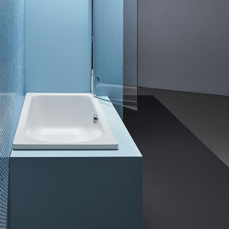 Photo of Bette Ocean 1700 x 800mm Single Ended Shower Bath Lifestyle Image