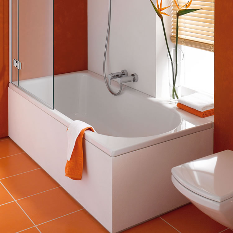 Photo of Bette Ocean 1700 x 750mm Single Ended Low-Line Shower Bath Lifestyle Image