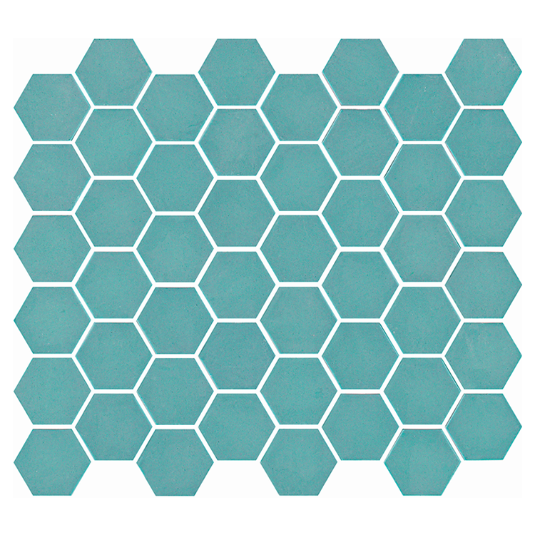 Photo of Ca' Pietra Brasserie Turquoise Glass Mosaic Tiles Cutout