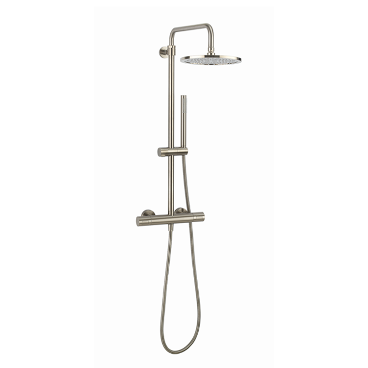 Photo of Crosswater Central Brushed Stainless Steel Multifunction Thermostatic Shower Kit Cutout