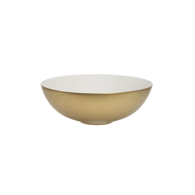 Photo of Crosswater Circus Brushed Brass Countertop Basin Side View Cutout