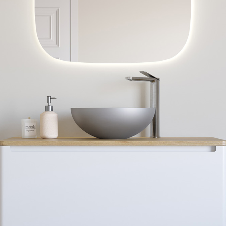 Photo of Crosswater Circus Brushed Stainless Steel Countertop Basin Lifestyle Image
