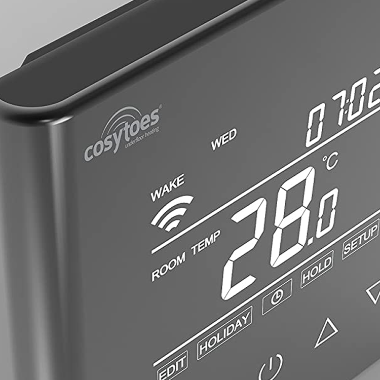Photo of Cosytoes Curve Reflection Wi-Fi Enabled Timerstat - Closeup Wi-Fi Symbol