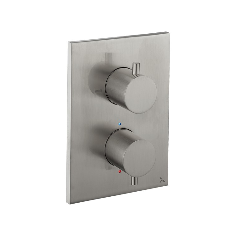Photo of Crosswater MPRO Brushed Stainless Steel Crossbox 1000 Valve Cutout