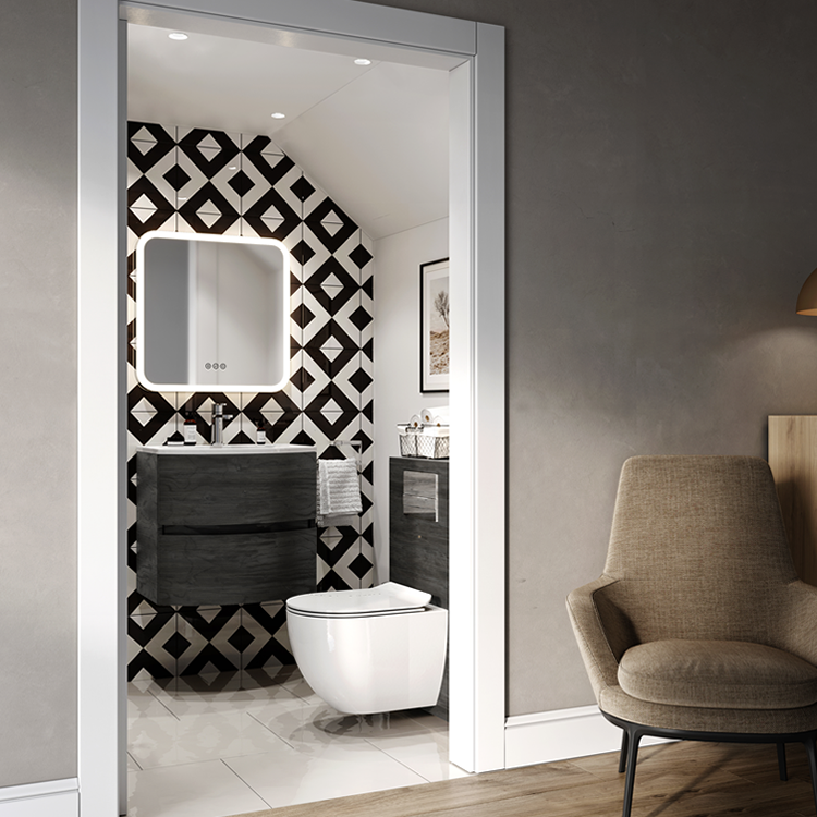 Lifestyle Photo of Crosswater Abstract Wall Cloakroom Suite