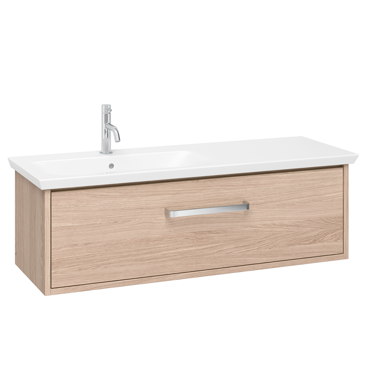 Photo of Crosswater Arena Modern Oak 1000mm Console Unit & Basin - Left Handed