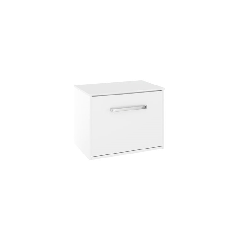 Photo of Crosswater Arena Pure White Gloss 600mm Wall Hung Unit & Worktop Cutout