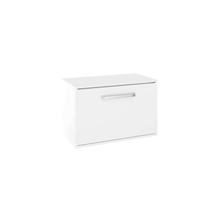 Photo of Crosswater Arena Pure White Gloss 700mm Wall Hung Unit & Worktop Cutout
