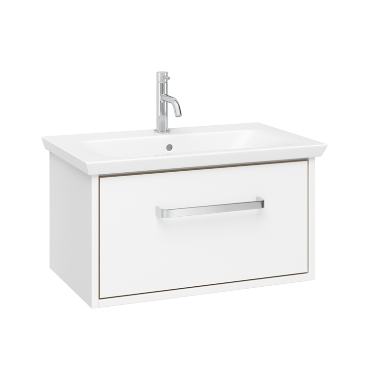 Photo of Crosswater Arena Pure White Gloss 600mm Console Unit & Basin Cutout