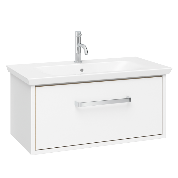 Photo of Crosswater Arena Pure White Gloss 700mm Console Unit & Basin