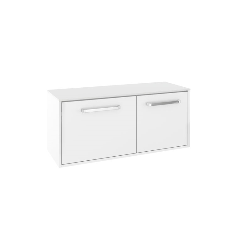 Photo of Crosswater Arena Pure White Gloss 1000mm Wall Hung Unit & Worktop - Left Hand Cutout
