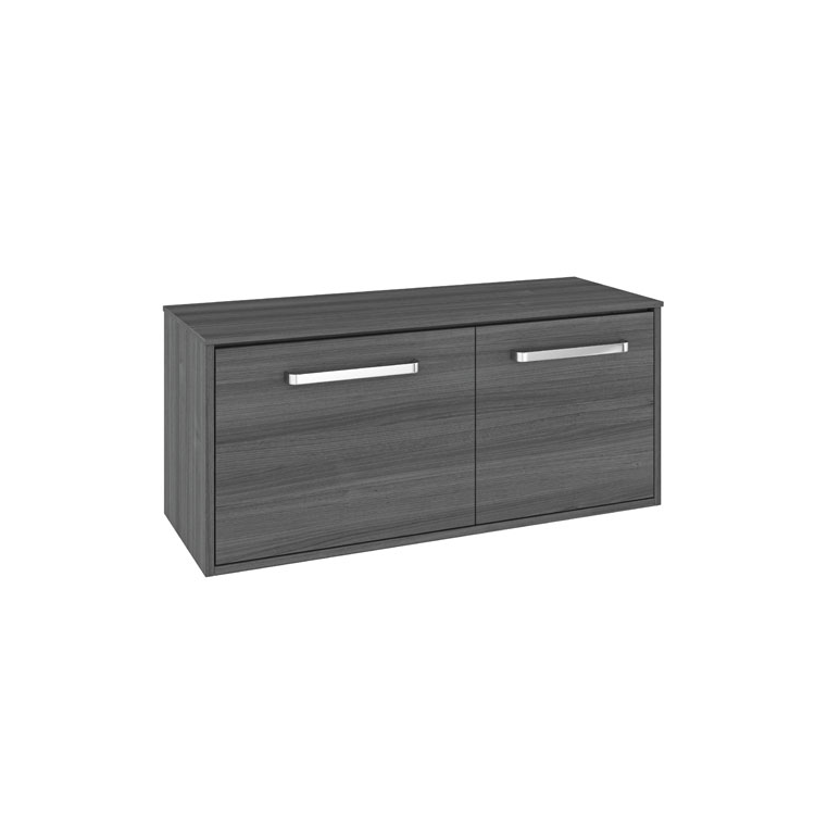 Photo of Crosswater Arena Steelwood 1000mm Wall Hung Unit & Worktop - Left Hand Cutout