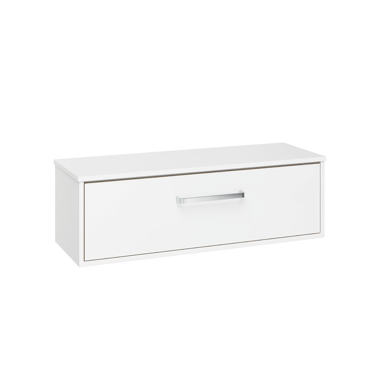 Photo of Crosswater Arena Pure White Gloss 1000mm Single Drawer Unit & Worktop Cutout
