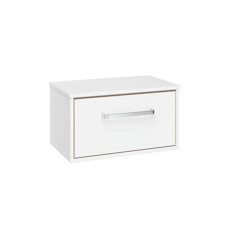 Photo of Crosswater Arena Pure White Gloss 600mm Single Drawer Unit & Worktop Cutout