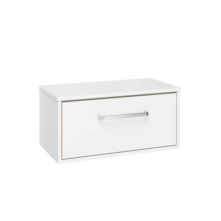 Photo of Crosswater Arena Pure White Gloss 700mm Single Drawer Unit & Worktop Cutout