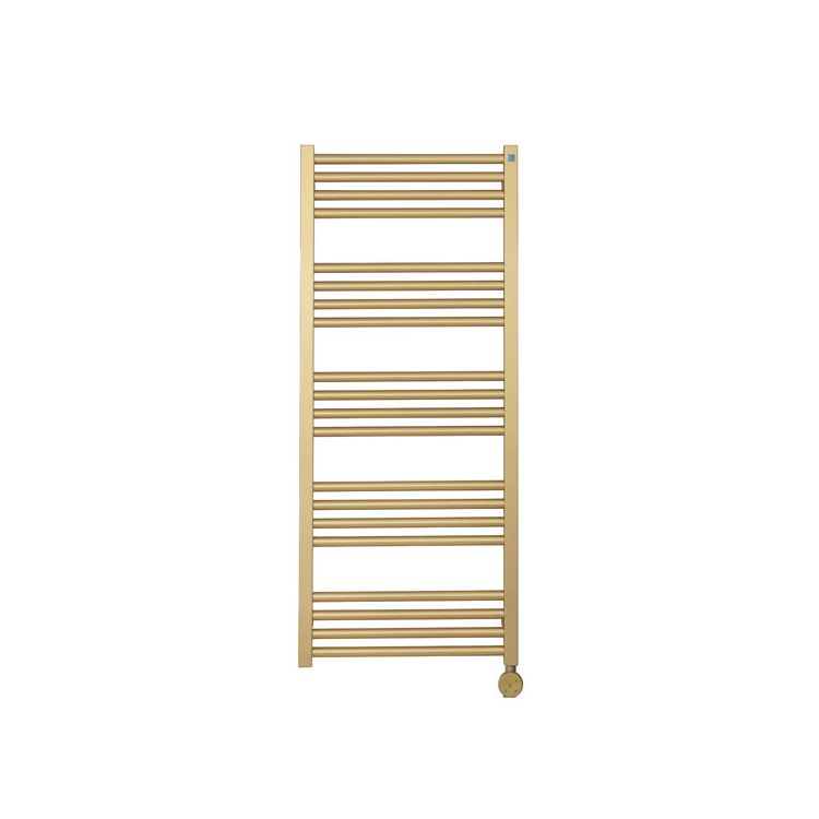 Photo of Crosswater MPRO Brushed Brass All Electric Towel Warmer Cutout