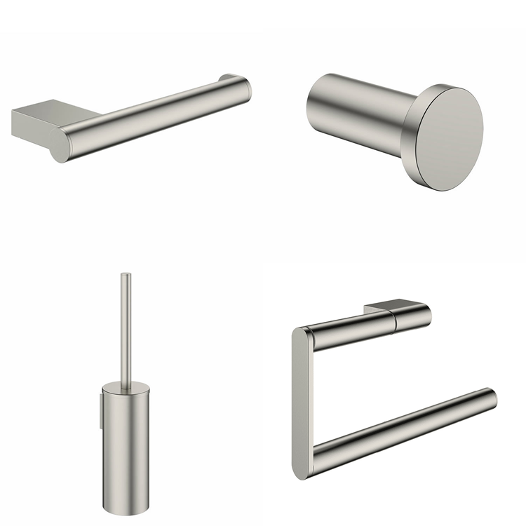 Photo of Crosswater MPRO Brushed Stainless Steel Effect 4 Piece Bathroom Accessory Pack Cutout