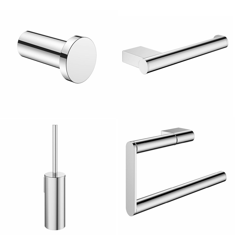 Photo of Crosswater MPRO Chrome 4 Piece Bathroom Accessory Pack Cutout